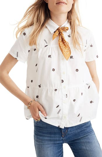 MADEWELL SEAMED BUTTON DOWN SHIRT