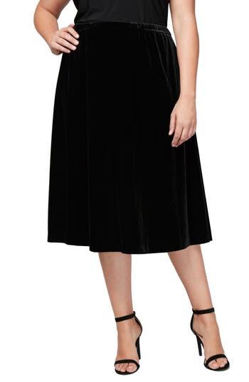 Alex Evenings Velvet Skirt