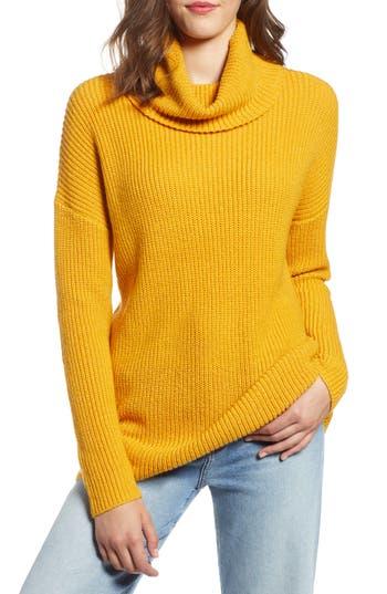 Halogen® Oversized Turtleneck Tunic Sweater