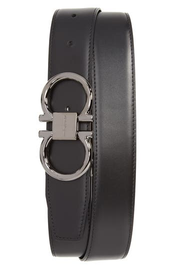 Salvatore Ferragamo Gancio Reversible Calfskin Leather Belt