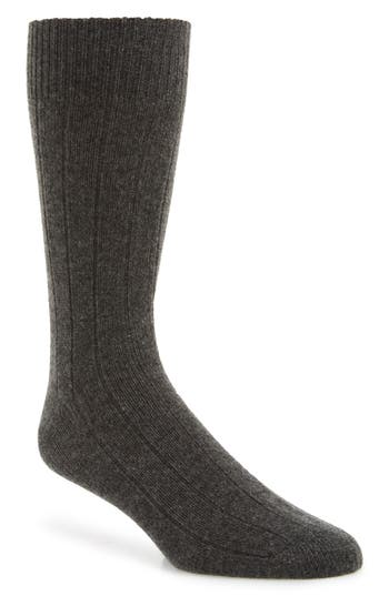 Nordstrom Signature Ribbed Cashmere Blend Socks
