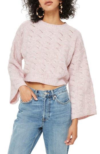 Topshop Pointelle Crop Sweater