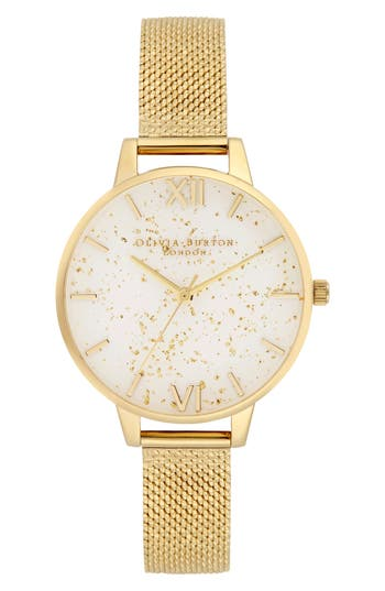 Olivia Burton Celestial Mesh Strap Watch, 34mm