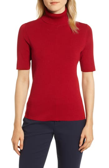 Women's Anne Klein Turtleneck Sweater, Size Medium - Red