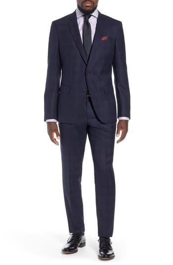 BOSS x Nordstrom Huge/Genius Trim Fit Plaid Wool Suit