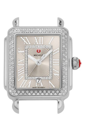 MICHELE Deco Madison Mid Diamond Dial Watch Head, 29mm x 31mm