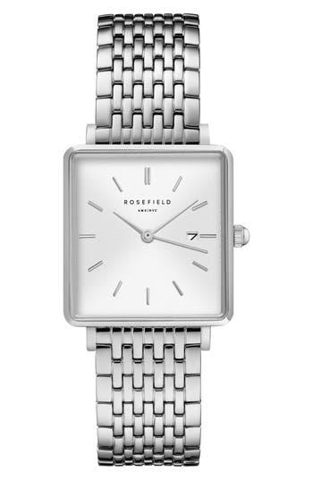 Rosefield The Boxy Bracelet Watch, 26mm x 28mm