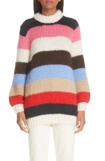 Ganni Julliard Multistripe Mohair & Wool Sweater
