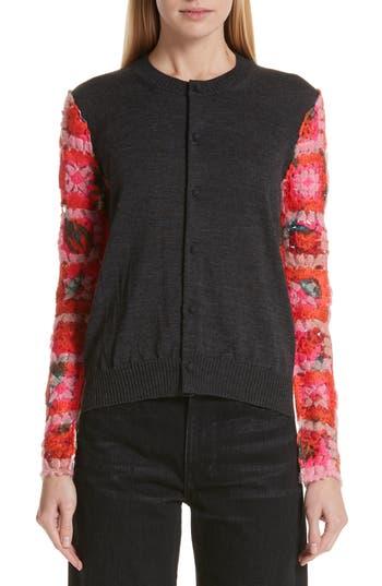 Tricot Comme des Garçons Crochet Sleeve Cardigan