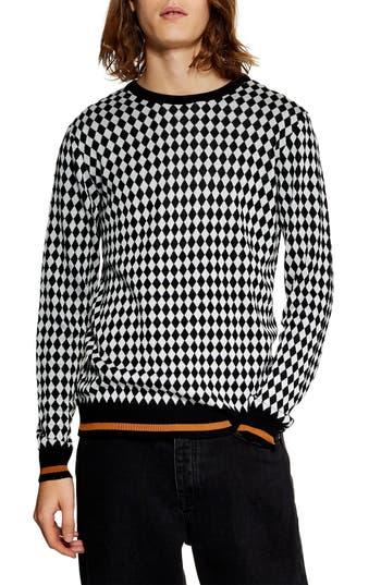 Topman Mini Diamond Crewneck Sweater