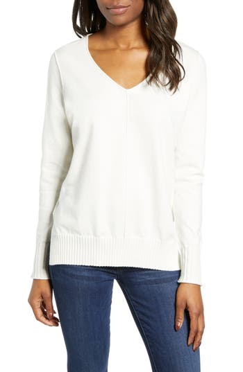 Caslon® Side Slit Sweater