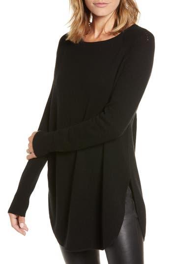 Halogen® Shirttail Wool & Cashmere Boatneck Tunic