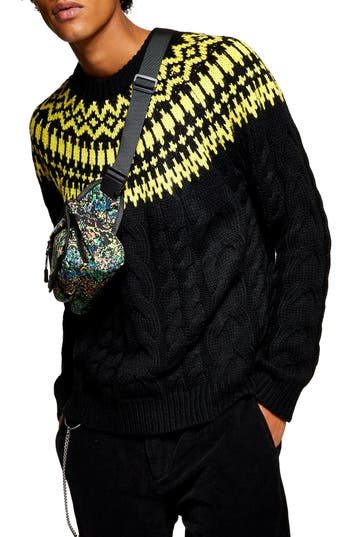 Topman Nordic Cable Knit Sweater