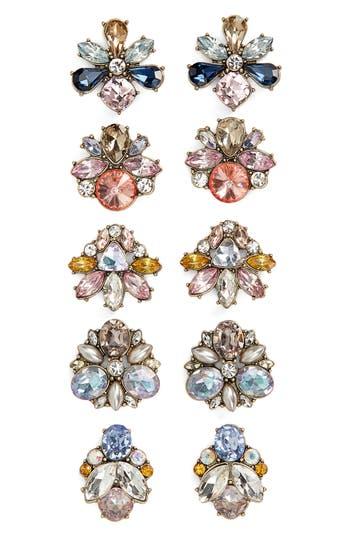 BaubleBar 5-Pack Crystal Stud Earrings