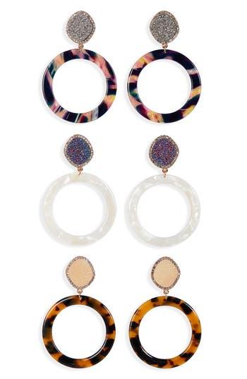 BaubleBar 3-Pack Hoop Earrings