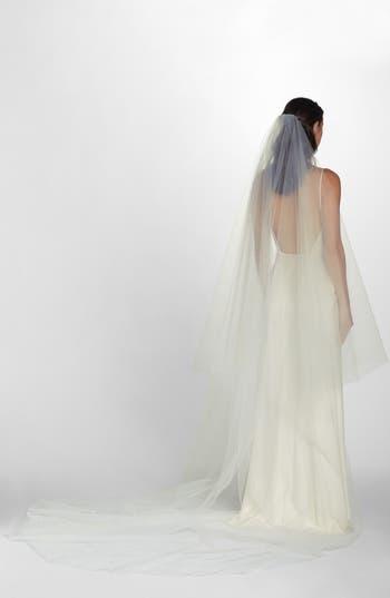 Wedding Belles New York Mia Raw Edge Cathedral Veil