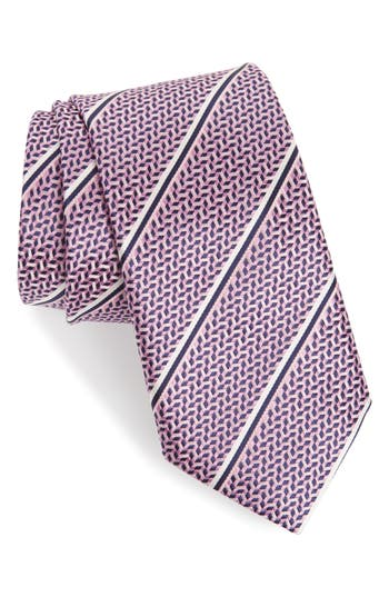 Canali Stripe Silk X-Long Tie