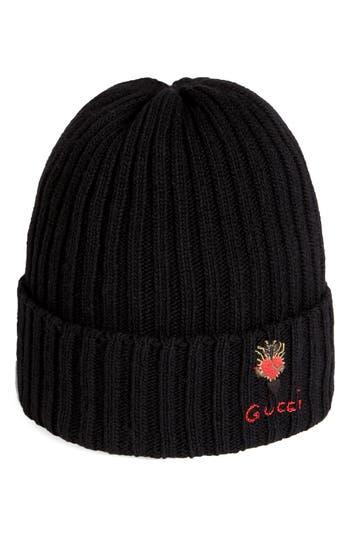 Gucci Heart Dagger Wool Beanie