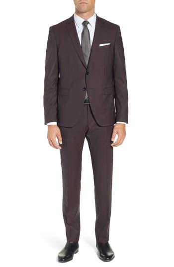 BOSS Reymond/Wenten Extra Slim Fit Solid Wool Suit
