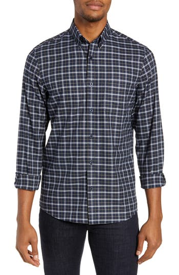 Nordstrom Men's Shop Tech-Smart Regular Fit Check Sport Shirt