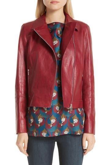 Lafayette 148 New York Marykate Leather Moto Jacket