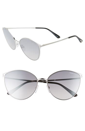Tom Ford Zeila 60mm Mirrored Cat Eye Sunglasses