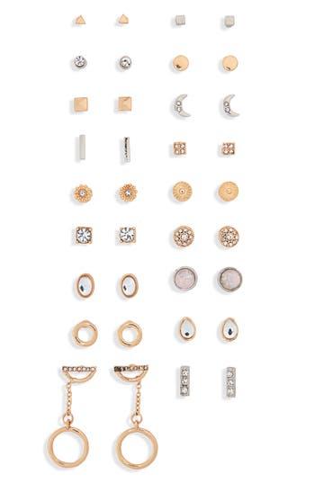 BP. Set of 18 Crystal Earrings