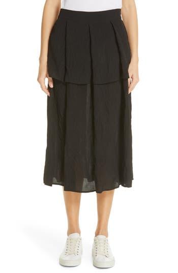 Sara Lanzi Pleat Midi Skirt