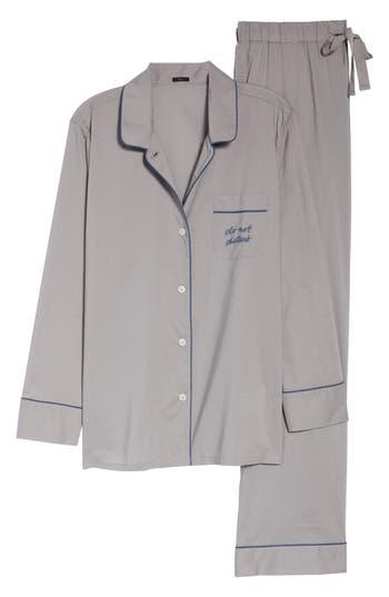 J.Crew Do Not Disturb Vintage Long Sleeve Pajamas