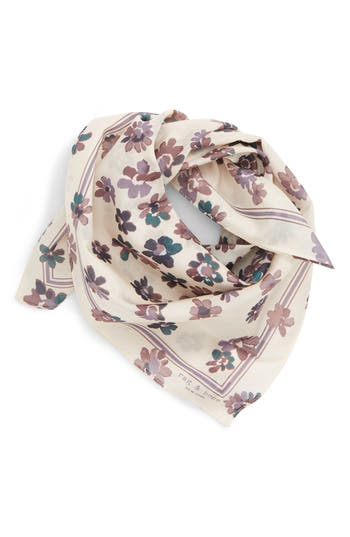rag & bone Floral Cotton & Silk Scarf