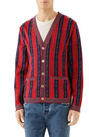 Gucci Horsebit Stripe Cardigan