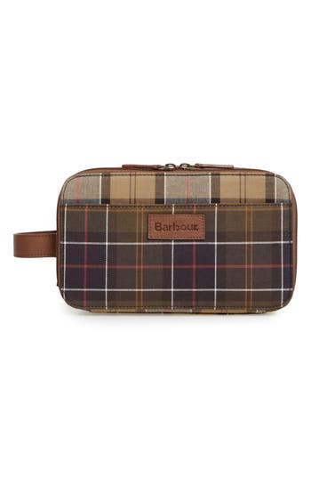 Barbour Mixed Tartan Dopp Kit
