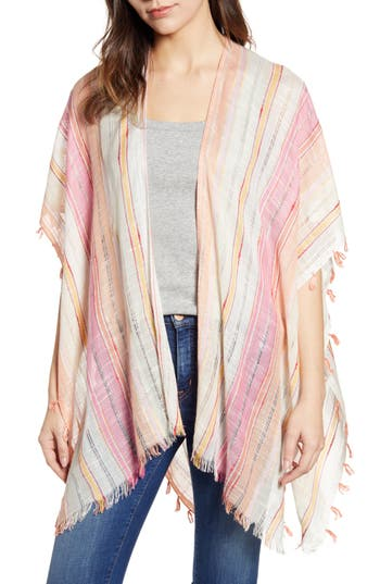 Echo Boardwalk Stripe Square Ruana