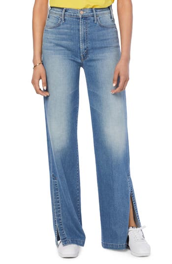MOTHER The Hustler Sidewinder Slit Hem Bootcut Jeans (A Side of Rice & Beans)