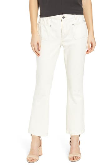 Current/Elliott The Cropped Bootcut Jeans (Wash Out)