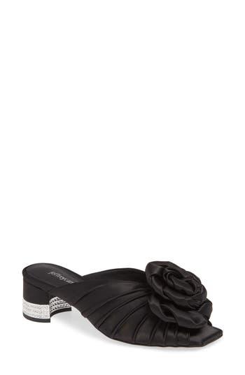 Jeffrey Campbell Rosette Crystal Embellished Slide Sandal (Women)