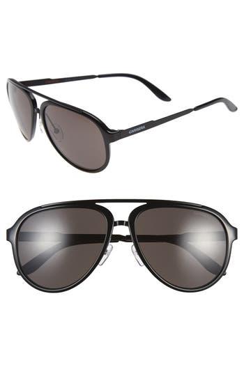 Carrera Eyewear 5m Aviator Sunglasses - Shiny Black/ Dark Grey