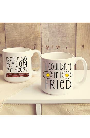 Cathys Concepts Bacon  Eggs Ceramic Coffee Mugs