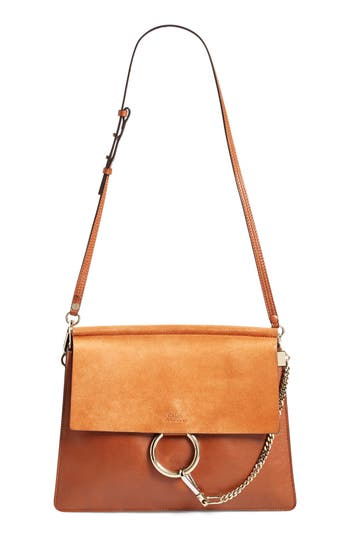 Chloé 'Faye' Leather & Suede Shoulder Bag