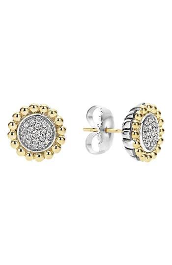 Women's Lagos Diamond Caviar Stud Earrings