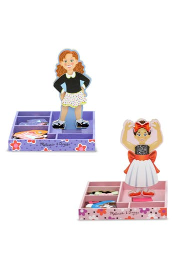 Girls Melissa  Doug Magnetic DressUp Set