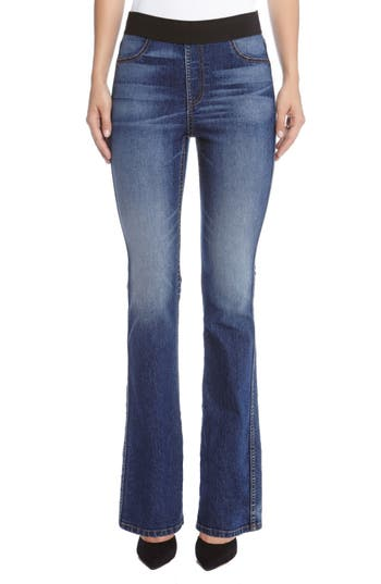 Pull-On Stretch Bootcut Jeans
