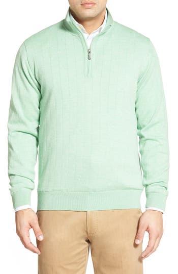 Bobby Jones Windproof Merino Wool Quarter Zip Sweater, Green