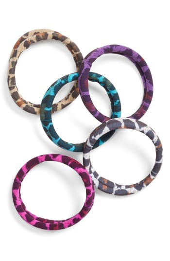 L. Erickson Set Of 5 Sport Ponytail Holders, Size One Size - Brown