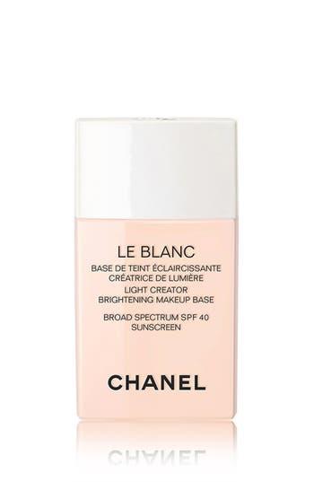 Chanel Le Blanc Light Creator Brightening Makeup Base Broad Spectrum Spf 40 Sunscreen - Rose
