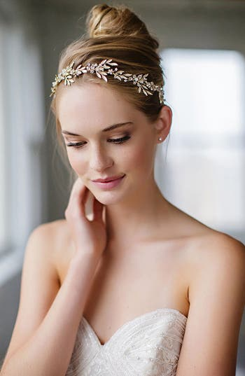 Brides & Hairpins 'Avalon' Leaf Halo & Sash