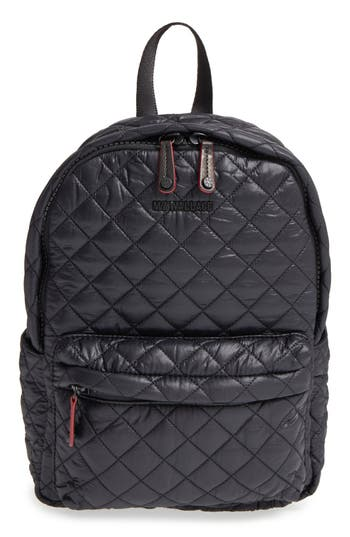 Mz Wallace 'Small Metro' Quilted Oxford Nylon Backpack -