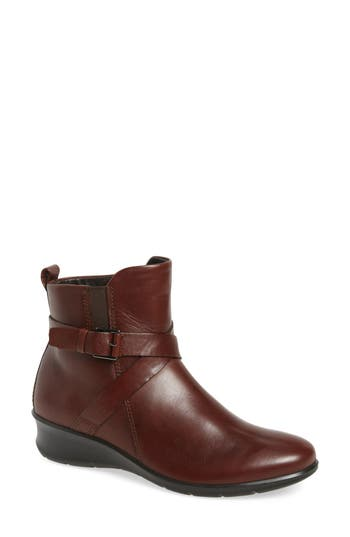 Women's Ecco 'Felicia' Strappy Zip-Up Wedge Bootie