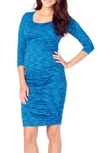 Ingrid & Isabel Jersey Maternity Dress, Blue/green