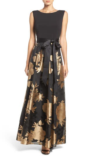 Ellen Tracy Fit & Flare Gown